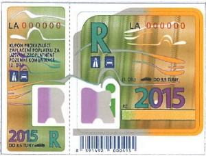 dálniční známka 2015